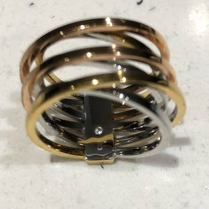 Michael Kors three tone ring